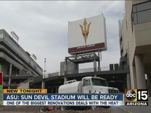 ASU  Sun Devil stadium will be ready